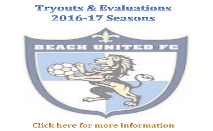 BUFC 2016 - 2017 Seasons Tryouts